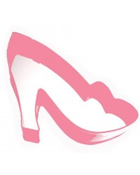 image: Pink metal High heel shoe cookie cutter