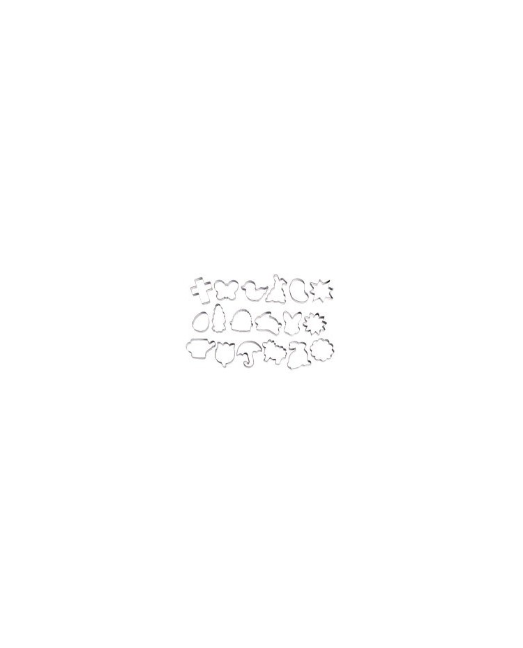 image: 18 piece Wilton Easter cookie cutter set