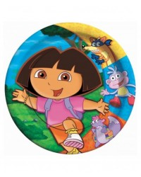"image: Dora the explorer party plates (8) 7"" diameter #2"