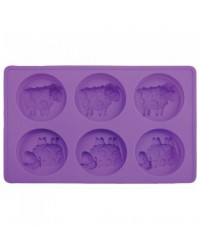 image: Sheep Cupcake hemisphere silicone tray mould pan