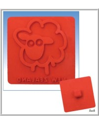 image: Sheep Toast Stamp silicone