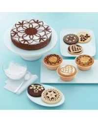 image: Doily Lace Cake and Cupcake Stencils Martha Stewart