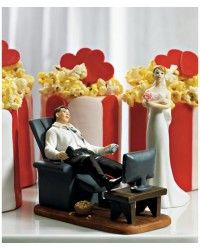 image: Groom Couch potato Mix & match cake topper