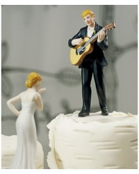 image: Groom Love serenade Mix & match cake topper