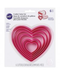 image: Nesting set 6 heart HEARTS cookie cutters