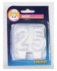 image: 25th numeral candle