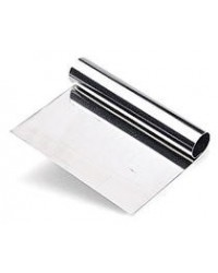image: Stainless steel dough or bench scraper