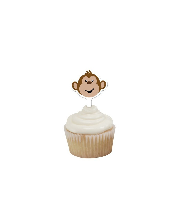 image: Monkey cupcake toppers picks (12) #1