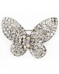 image: Diamante Butterfly Brooch