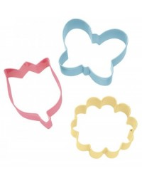 image: 3pc flowers & butterfly cookie cutter set