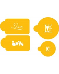 image: Love stencil set