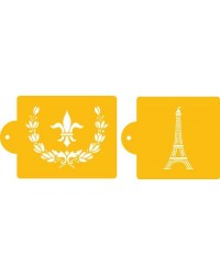 image: Parisian Paris themed stencil set