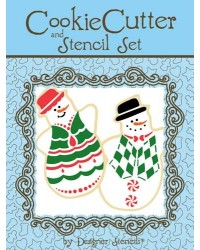 image: Snowman cookie cutter & stencil set