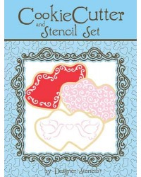 image: Double Heart Cookie Cutter & Stencil Set