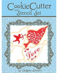 image: Arrow Heart Cookie Cutter & Stencil Set