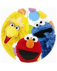 image: Sesame Street party plates (8) Elmo Big Bird & Cookie Monster