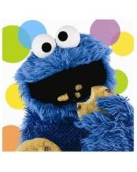 image: Sesame Street party napkins (16) Cookie Monster