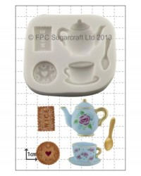 image: Tea party & biscuits silicone mould
