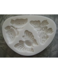 image: Filigree butterflies - cake jewellery silicone mould