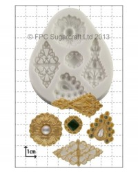 image: Filigree Brooches cake jewellery silicone mould