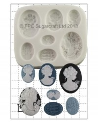 image: Cameo Ladies cake jewellery silicone mould