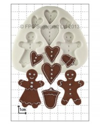 image: Gingerbread people silicone mould