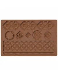 image: Macrame Fondant & Gumpaste silicone Mould Jewel brooch shapes