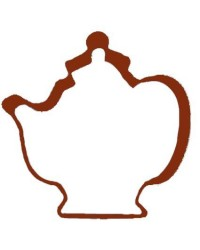 image: Brown metal teapot cookie cutter
