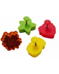 image: Leaves & fruits set 4 plunger ejector cutters