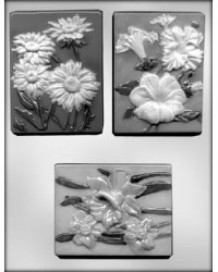 image: Flower plaques #3 chocolate mould