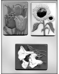 image: Flower plaques #4 chocolate mould