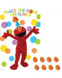 image: Sesame Street party game (pin the nose on Elmo)