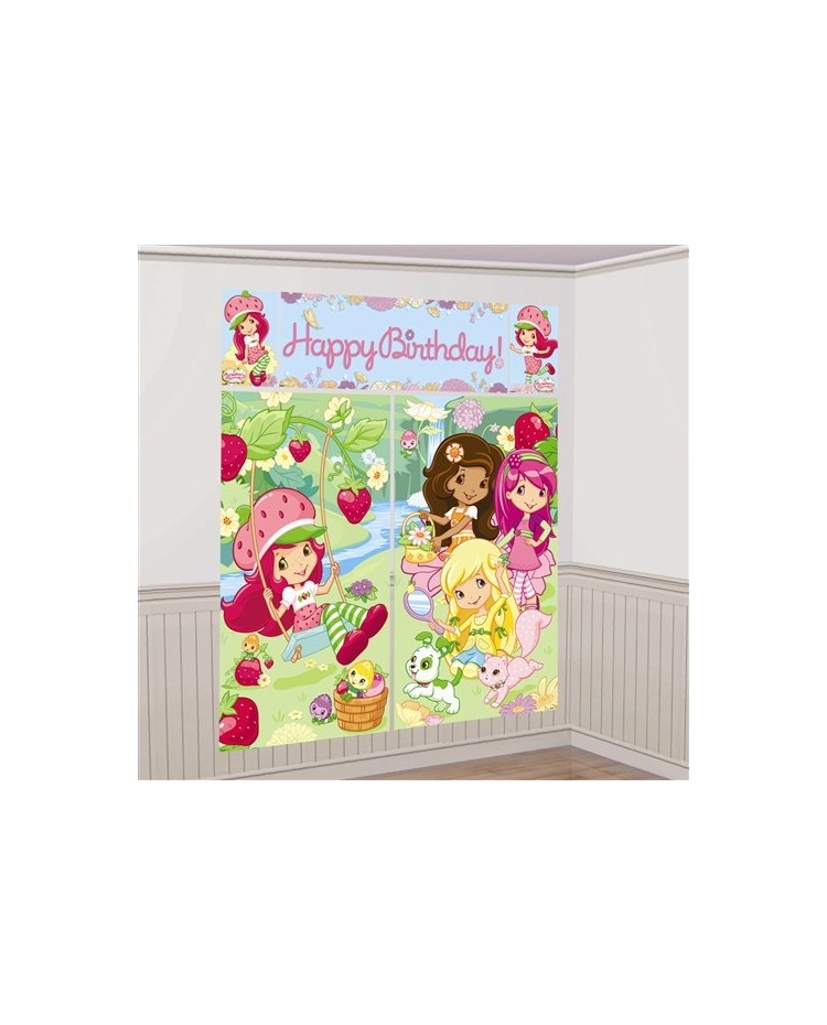 image: Strawberry Shortcake wall decorating kit