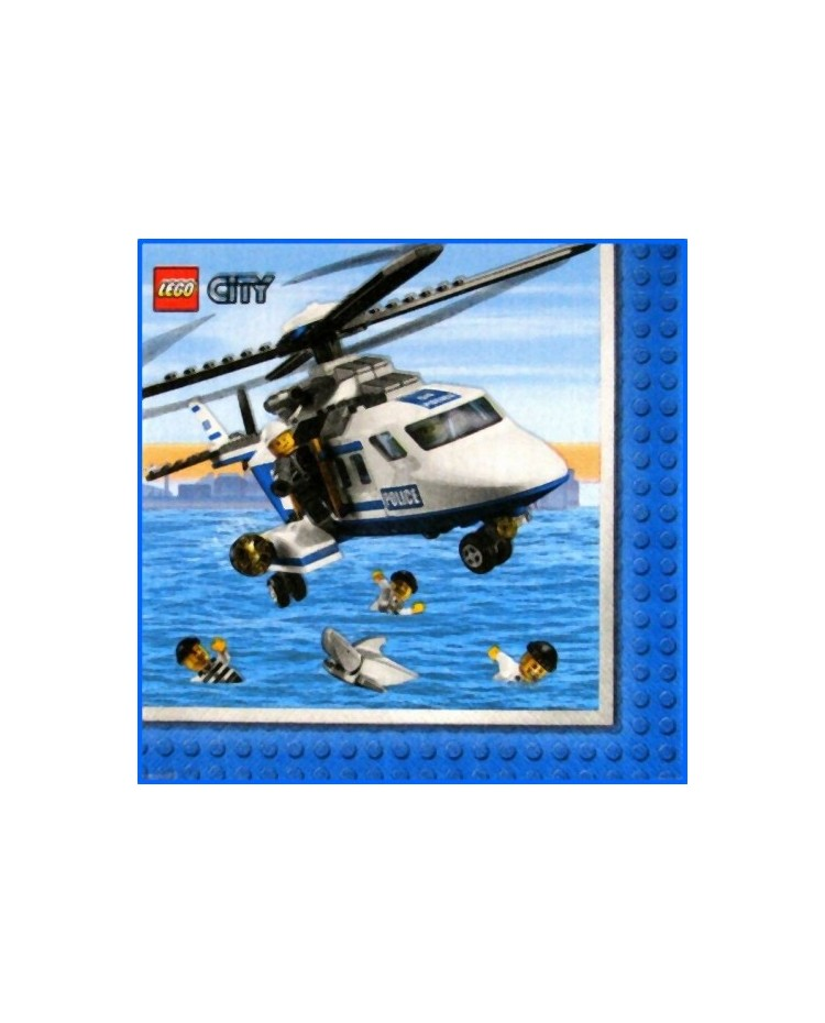 image: Lego City party lunch napkin (16)