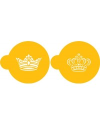 image: Royal crowns cookie stencil set
