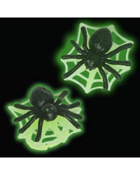 image: Glow in the dark SPIDER & WEB Cupcake rings (12)