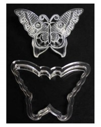 image: Embroidery lace cutter & impression Butterfly