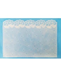 image: Sugarveil Flower Net edible lace mat