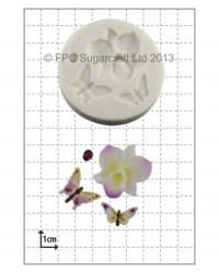 image: Orchid & Insects silicone mould