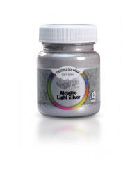 image: Edible Silk Bulk Jar Metallic Light Silver