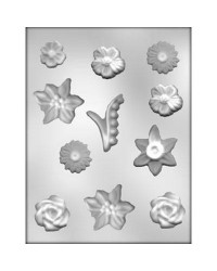image: Flower assortment chocolate mould