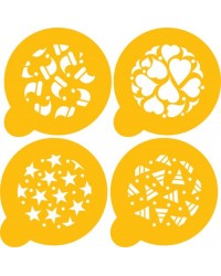 image: Holiday cookies stencil set