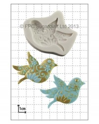 image: Floral bird silicone mould