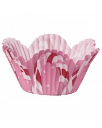 image: Candy Cane mini cupcake papers baking cups