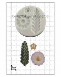 image: Stylised Fern & Flowers silicone mould