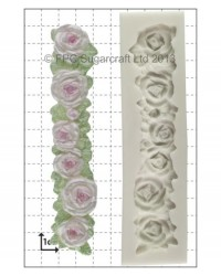 image: Rose Border silicone mould