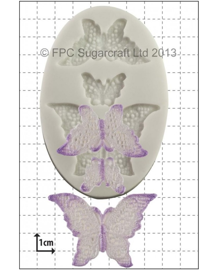 image: Lace Butterflies silicone mould (3 sizes)