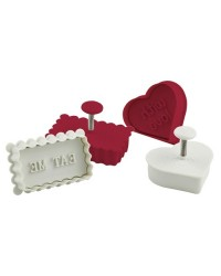 image: Message cookie cutter plunger set Eat Me, Home Made & more!