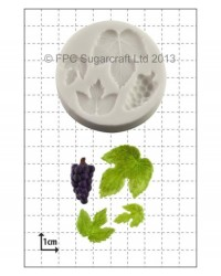 image: Grapes & Vine Leaves silicone mould