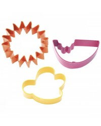 image: Summer set 3 cookie cutters (Watermelon Sun & Buzzy Bee)